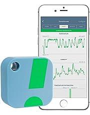 SensorPush – draadloze thermometer/hygrometer voor iPhone/Android. Slimme temperatuur- en vochtsensor met alarmfunctie. App ook verkrijgbaar in het Duits. blauw
