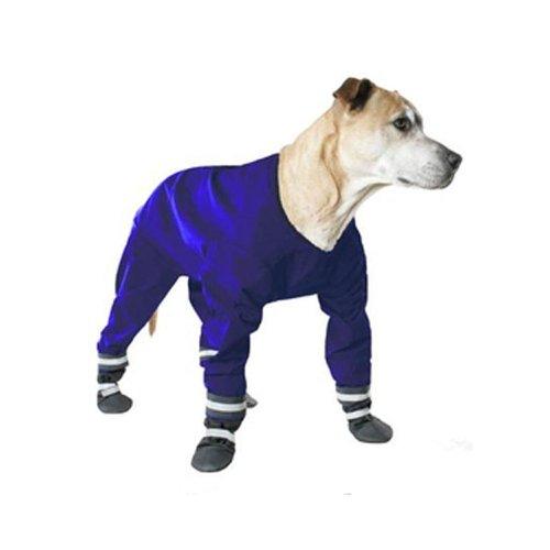 Muttluks Four Legged Dog Jog Rainsuit, Size 14, Blue by Muttluks (Image #1)
