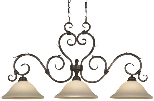 Traditional 3 Light Island (Vicosa Collection Three Light Island Style Chandelier)