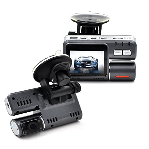 UPC 889269742414, Sharker Dual Lens 2.4 inch 170 Degree Wide-Angle HD 1080P Car DVR, Traveling Driving Camera with Night Vision and Motion Detection / G-Sensor, BLACK ( TF Card Not Included )