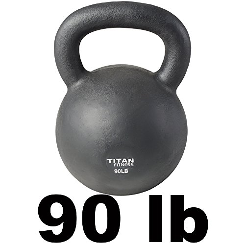 Cast Iron Kettlebell Weight 90 lb Natural Solid Titan Fitness Workout Swing by Titan Fitness (Image #1)