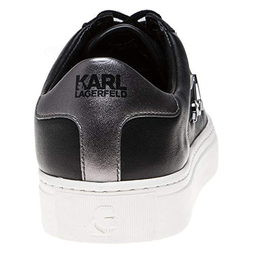 Noir Femme Signia Baskets Karl Mode Lace Kupsole Lagerfeld Noir Leather zZqgPX