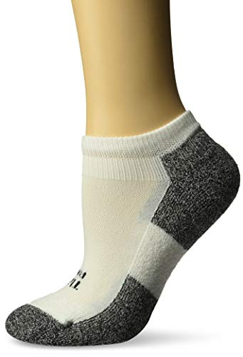 Thorlo Lite Mini - Thorlos Women's 1 Pair Lite Running Thin Cushion Micro Mini Crew Socks 7.5-9.5 White