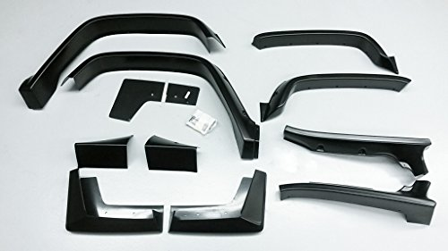 E&G Classics H2/SUT Extra Wide Factory Black Fender Flare Set (Hummer Fender Flares compare prices)
