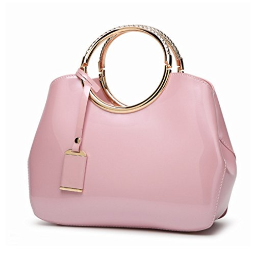 Vintage Verniciata In Spalla Tracolla Casual A Shopping Pink color Kervinfendriyun Rose Mano Yy4 Pelle Borsa SwxWYT81