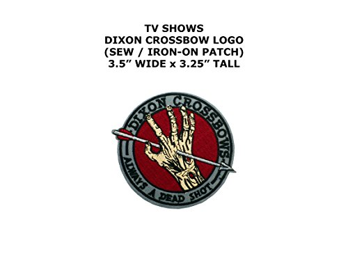 Doctor Costume Dead Diy (Dixon Crossbow The Walking Dead TV Show DIY Embroidered Sew or Iron-on Applique Patch Outlander)