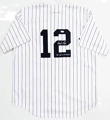 (Wade Boggs Autographed New York Yankees P/S Majestic Jersey W/WS Champs- JSA W Auth Split-2)