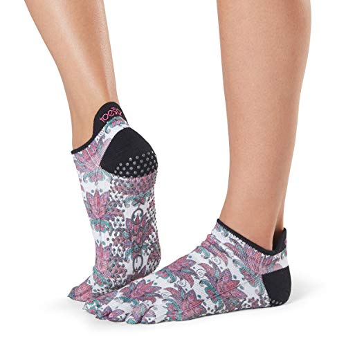 ToeSox Grip Pilates Barre Socks - Non-Slip Low Rise Full Toe for Yoga & Ballet from toesox