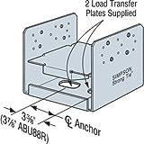 (4 Count) Simpson ABU88R 8 x 8 Rough Adjustable Post Base