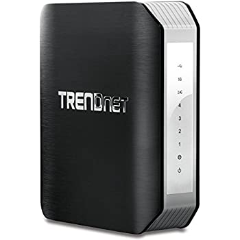 TRENDnet AC1900 Dual Band Wireless AC Gigabit Router, 2.4GHz 600Mbps+5Ghz 1300Mbps, One-Touch Network connection, 1 USB 2.0 Port, 1 USB 3.0 Port, DD-WRT Compatible, IPv6, Guest Network, Parental controls, TEW-818 DRU