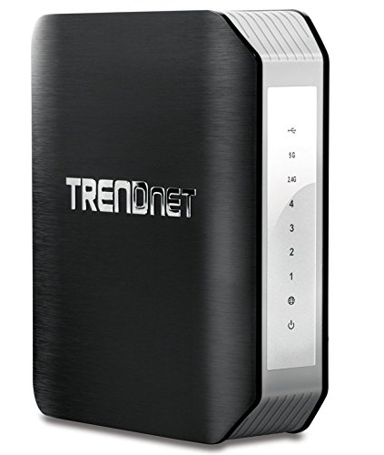 TRENDnet AC1900 Dual Band Wireless AC Gigabit Router, 2.4GHz 600Mbps+5Ghz 1300Mbps, One-Touch Network connection, 1 USB 2.0 Port, 1 USB 3.0 Port, DD-WRT Compatible, IPv6, Guest Network, Parental controls, TEW-818DRU (Network Server Embedded Video)