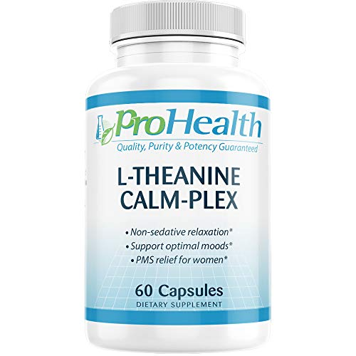 L-Theanine Calm-Plex with GABA and 5-HTP (Suntheanine) (100 mg, 60 Medium Capsules) by ProHealth