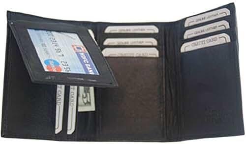 Mens Black Leather Wallet Lambskin