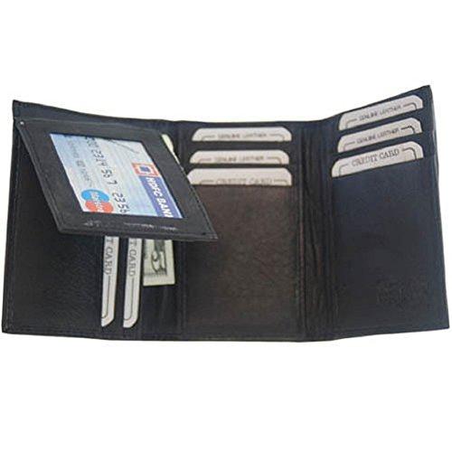 Mens Brown Leather Wallet Lambskin