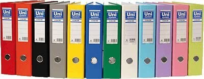 Unisystem 092487 - Archivador de palanca, A4, lomo 70 mm, color rojo: Amazon.es: Oficina y papelería