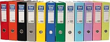 Unisystem 092487 - Archivador de palanca, A4, lomo 70 mm, color rojo