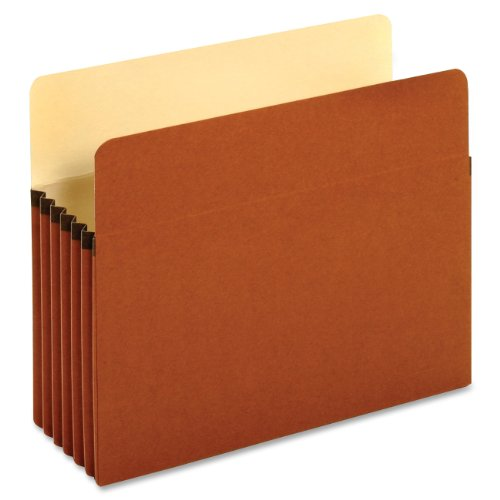 Globe-Weis/Pendaflex Standard File Pockets, 5.25-Inch Expansion, Letter Size, Brown, 50 Pockets Per Box (63234B)