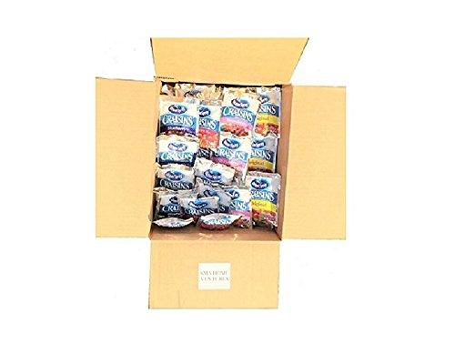 Craisins Variety Box 48 snack size packs 12 of each flavor. (Ocean Spray Craisins)