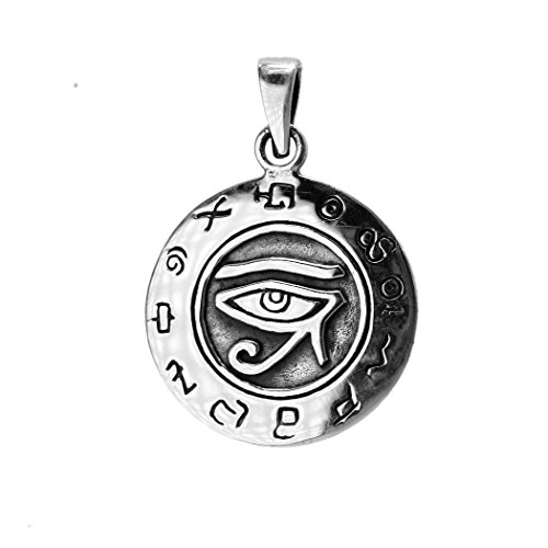 EXD Egyptian Udjat Eye of Ra Horus Amulet 925 Sterling Silver Pendant Jewelry (Pendant) (Cheap Greek Goddess Costume)