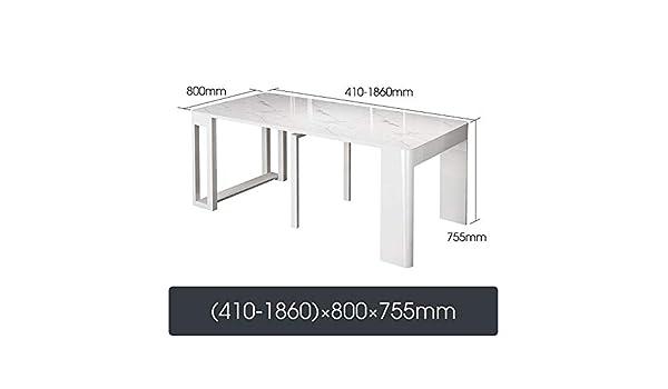 Susulv Comedor Nordic Plegable Mesa de Comedor con sillas Gota Hoja Extensible multifunción Tabla Extensible Mesa Rectangular (Color : Marble Tiles, tamaño : 184X80X75.5cm): Amazon.es: Hogar