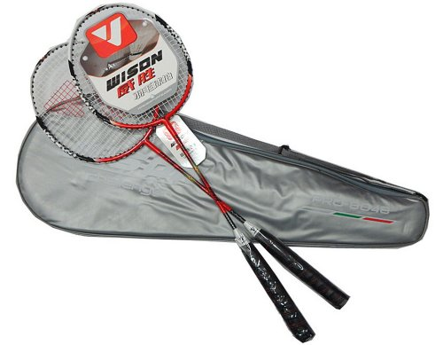 2 Packs Badminton Racquets Red Rackets for Wholesale with Case Review