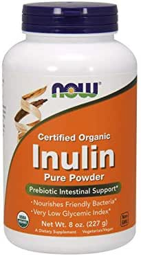 NOW Supplements, Certified Organic and Non-GMO, Inulin Powder, 8-Ounce