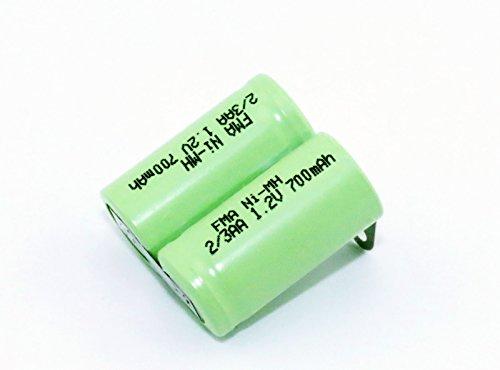 Shaver Razor Rechargeable Battery 2/3Aa 2.4V 700Mah W/Tabs Prepared ()