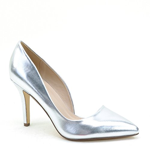 Women's Pointy Toe High Heels Bridal Evening Wedding Pump Shoes Silver 8