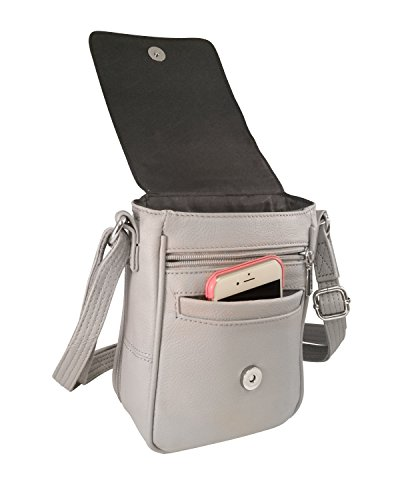 Wire 380 zippers amp; Fits Crossbody Gray more P9 Roma YKK amp; Ruger strap LCP Compact KAHR KAHR Bag Leathers reinforcement Lockable Concealment n6X4Xgq8