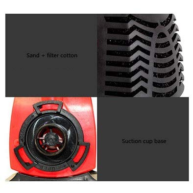 LIFUREN Fish Tank Oxygen Pump Aquarium Bottom Submersible Pump Silent Small Pumping Filter Circulating Pump (Color : Red, Size : 18W)