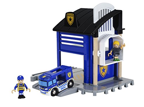 BRIO World - 33813 Police Station | 6 Piece Set for Kids Ages 3 and Up