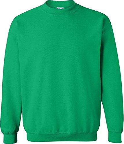 Gildan Herren 8Oz Heavy Blend 50/50Crew Fleece Gr. Small, Grün - Irish Green
