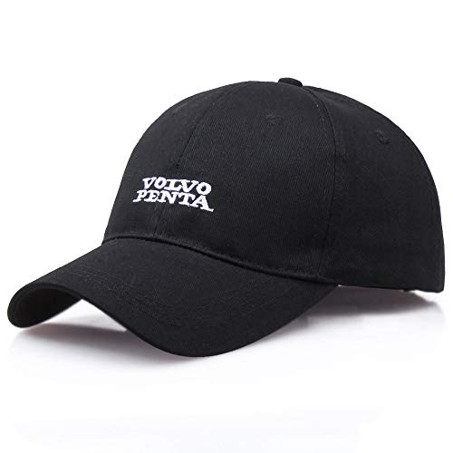 Street Hipster Sports Baseball Cap Cotton Black White Wild Hat Men and Women Outdoor Embroidery Sun Hat 58-60cm (Color : Black)