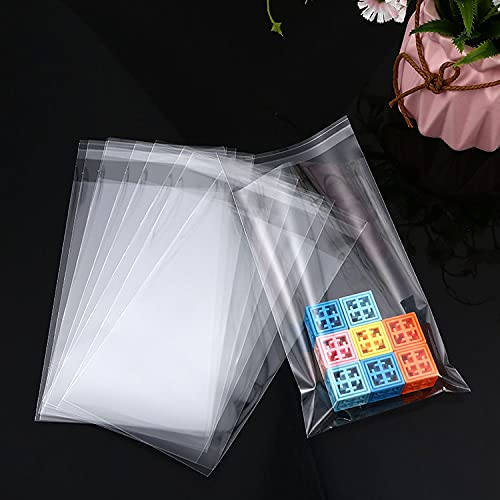 Self Sealing Cellophane Bags,4x9 Inch Clear Resealable Cellophane Bags Self Adhesive for Packaging Packaging Gifts, Products,100 Pcs