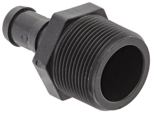 """Banjo HB125-075 Polypropylene Hose Fitting, Adapter, 1-1/4"""" NPT Male x 3/4"""" Barbed"""