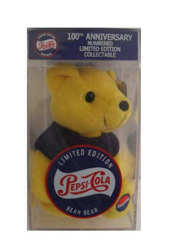 (Pepsi Cola 100th Anniversary 1999 Bear#3- Yellow Bear in Case)