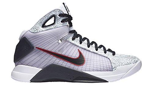 Nike Mens Hyperdunk OG ''United We Rise'' Basketball Sneaker 863301-146 (12M US, White/Dark Obsidian-Sport Red) by NIKE