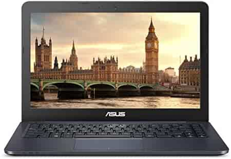 """ASUS L402WA-EH21 Thin and Light 14"""" HD Laptop; AMD E2-6110 Quad Core 1.5GHz Processor,AMD Radeon R2 Graphics,4GB RAM,32GB eMMC Flash Storage,Windows 10 S with FREE 1yr Office 365 Subscription Included"""