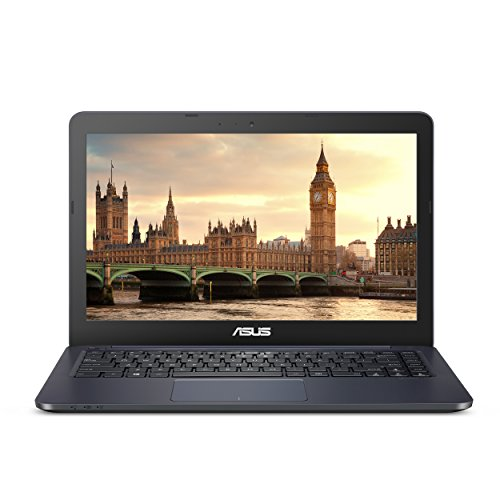 "ASUS L402WA-EH21 Thin and Light 14"" HD Laptop; AMD E2-6110 Quad Core 1.5GHz Processor,AMD Radeon R2 Graphics,4GB RAM,32GB eMMC Flash Storage,Windows 10 in S Mode with Office 365 Personal 1-year included"