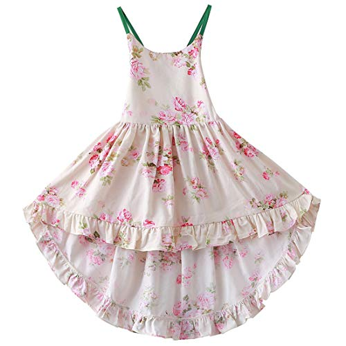 Girls Dresses Summer Dresses 2T Flower Dress Girls Casual Dresses Casual Maxi Dress Girls Floral Maxi Dress Toddler Girl Party Dress 2T Spaghetti Strap Dress Dresses for Girls (A6Floral,90)