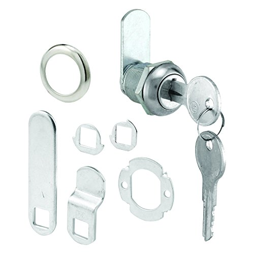 Prime-Line MP4454 Cabinet Lock, 5/8 in, Diecast with Steel Cams, Chrome, Different, Y11 Key, 1 Set