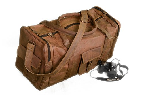 Gbag Genuine Leather Duffle Overnight