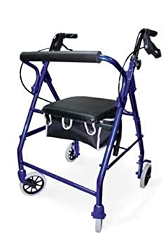 Invacare Probasics Soft Seat Aluminum Rollator with Straight Backrest - BLUE