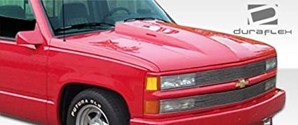 Duraflex Replacement for 1988-1999 Chevrolet GMC C Series/K Series Pickup  1992-1999 Tahoe Yukon Suburban Cowl Hood - 1 Piece