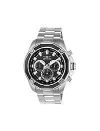 Invicta Men's Aviator Steel Bracelet & Case Quartz Black Dial Analog Watch 22803