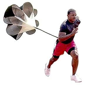 Speed Drills Resistance Parachute Umbrella Running Chute & Fitness Explosive Power Soccer Football Sport Speed Training - 56 inch