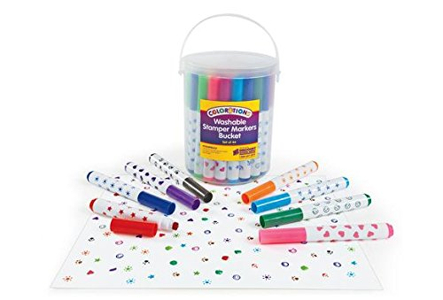 Colorations STAMPBUCK Colorations Washable Marker Stamper Bucket (Pack of 44)