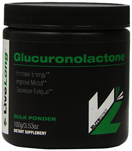 Glucuronolactone - Pure Bulk Supplement - Make your own energy Drink, or Pre Workout. Just add to mix for Energy, Focus and Alertness. No fillers 100g Bulk Powder by LiveLong Nutrition