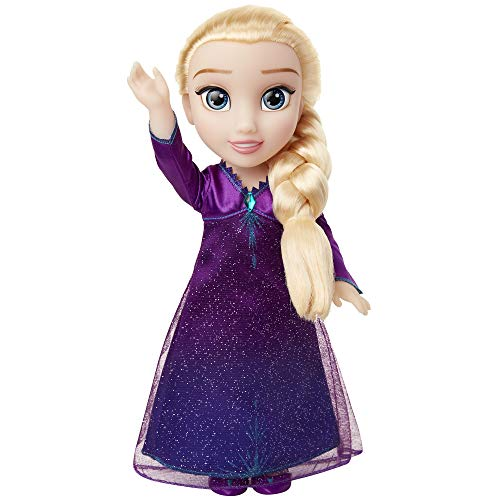 Disney Frozen 2 Elsa Musical Doll Sings 'Into the Unknown' & Says 14 Film Phrases, Dress Lights Up - For Ages 3+