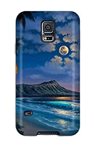 Galaxy S5 Hard Back With Bumper Silicone Gel Tpu Case Cover Nature